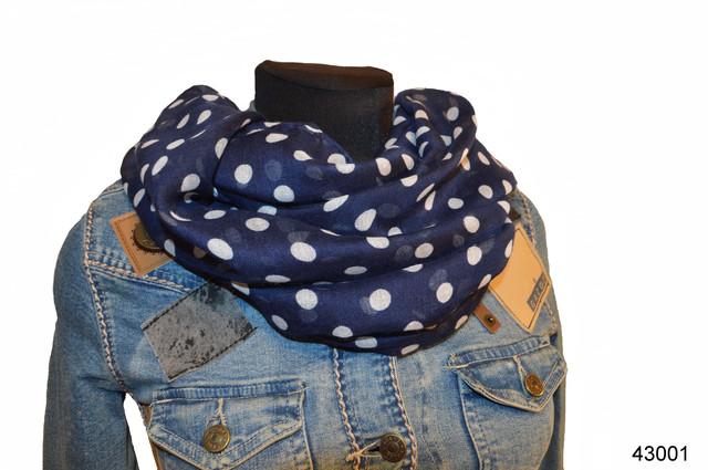 Весенний шарф снуд Алира синий 1