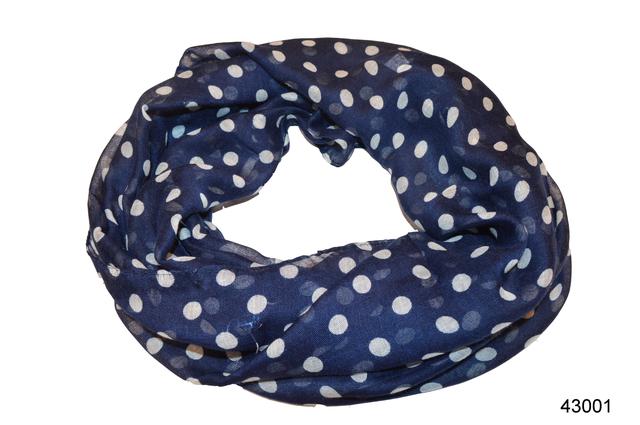 Весенний шарф снуд Алира синий 2