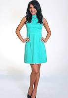 Платье повседневное, молодежное   Тина  размеры 42, 44, 46, 48 бирюзовое