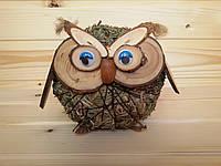 Сувенирная игрушка из сена Сова 12х17 см