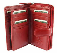 Женское портмоне Visconti HT33 Madame красное