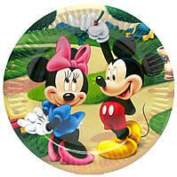 Тарелки бумажные детские Минни и Микки