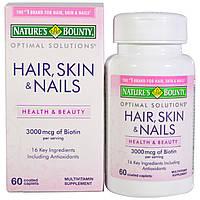 Волосы, кожа и ногти, Nature's Bounty, 60 капсул