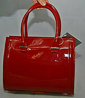 Красная каркасная лаковая женская сумка Voila (Wallaby)