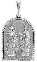 Ладанка серебряная Святые