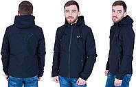 Мужская демисезонная куртка черного цвета PRADA. Размер XL,2XL,3XL,4XL,5XL. Код 527