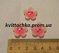 "Серединка-кабошон ""Подсолнух"" розовая серединка"