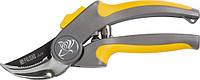 Секатор, 200 мм, пружина зворотня, посилений, обріз. 2-комп. плас. ручки// PALISAD LUXE