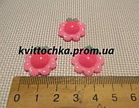 "Серединка-кабошон ""Цветок"" розовый"