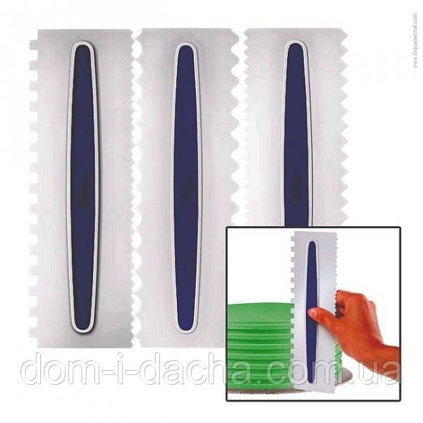 Кондитерсие шпателя-гребешки фигурные набор