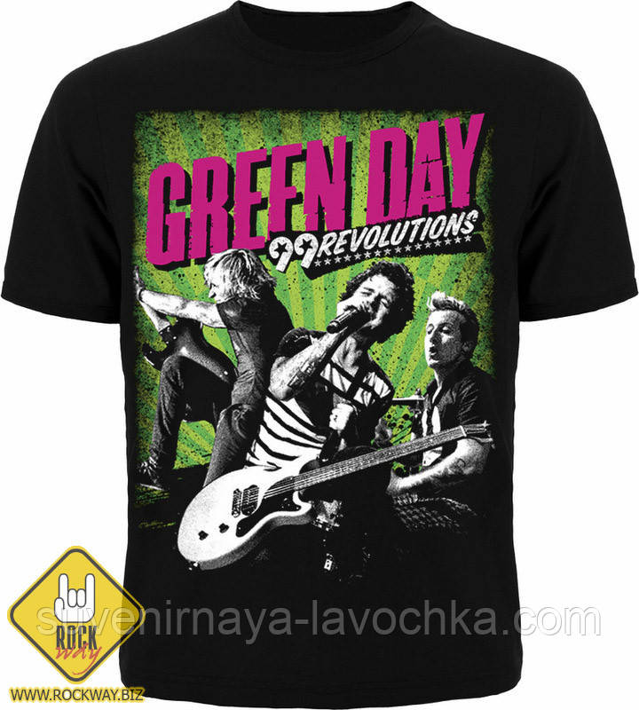 Рок футболка Green Day 99 Revolutions