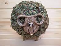 Сувенирная игрушка из сена Баранчик 17х15 см