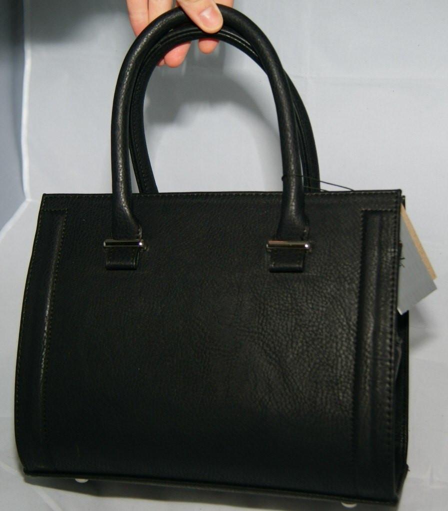 Чёрная матовая каркасная женская сумка Voila (Wallaby)