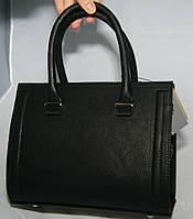 Чёрная матовая каркасная женская сумка Voila (Wallaby), фото 1