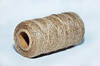 Веревка джутовая декоративная, 3 мм, 100 м, натуральная, фото 1
