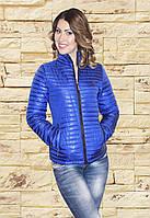 Весна осень 2017 г женская куртка CHANEL синий электрик