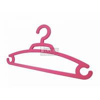 Вешалка Ламела 1 шт для одежды цветная 1001 Розовый