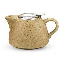 Заварювальний чайник 1000 мл з ситечком, колір ПІСОЧНИЙ (кераміка)