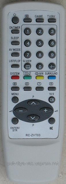 Пульт от телевизора AIWA. Модель RC-ZVT03