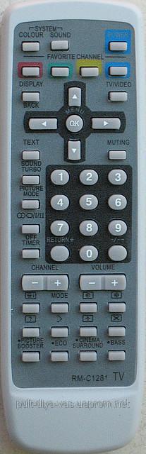 Пульт для телевизора JVC. Модель RM-C1281