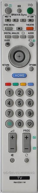 Пульт с телевизора SONY. Модель RM-ED011W