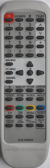 Пульт на телевизор Panasonic. МодельEUR-646932