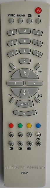 Пульт от телевизора RUBIN. Модель RC-7