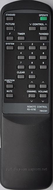 Пульт для телевизора NEC. Модель RD-1078