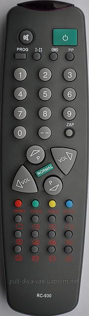 Пульт от телевизора RAINFORD. Модель RC-930