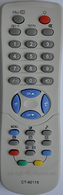 Пульт для телевизора TOSHIBA. Модель CT-90119