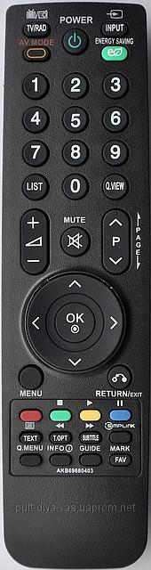 Пульт на телевизор  LG. Модель AKB69680403