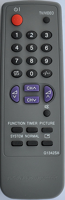 Пульт для телевизора SHARP. Модель G1342SA