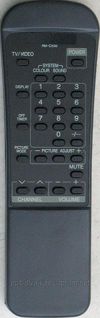 Пульт  телевизора JVC. Модель RM-C530
