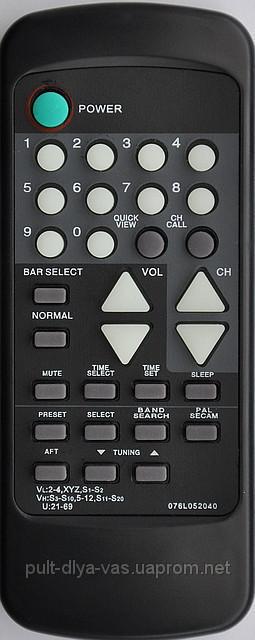 Пульт от телевизора ORION. Модель 076L052040