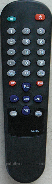 Пульт для телевизора SATURN. Модель 54D5