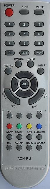 Пульт для телевизора AKIRA. Модель ACH-P-2