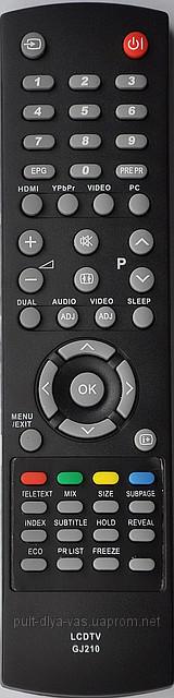 Пульт  телевизора SHARP. Модель GJ210
