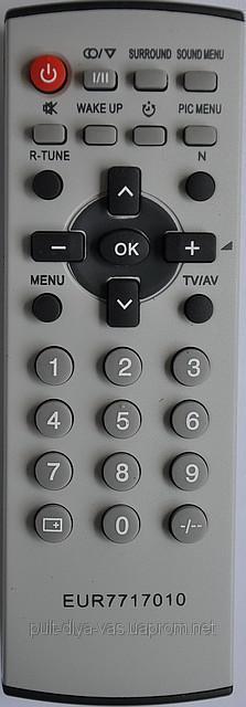 Пульт от телевизора Panasonic. МодельEUR 7717010