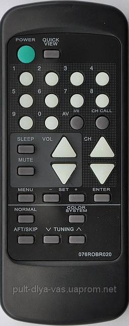 Пульт к телевизору ORION. Модель 076ROBR020