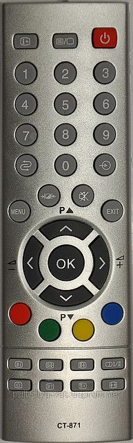 Пульт с телевизора TOSHIBA. Модель CT-871