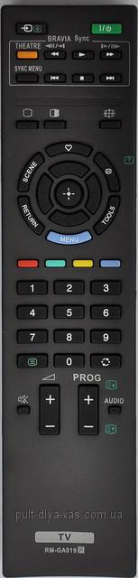 Пульт для телевизора SONY. Модель RM-GA019