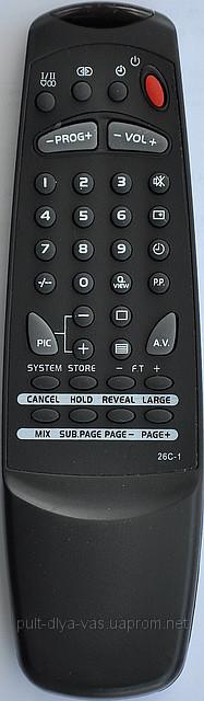 Пульт от телевизора ERISSON. Модель 26C-1