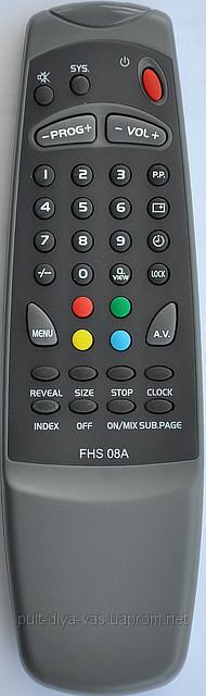 Пульт к телевизору ERISSON. Модель FHS-08A