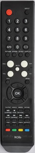 Пульт от телевизора SUPRA.  Модель RC6b