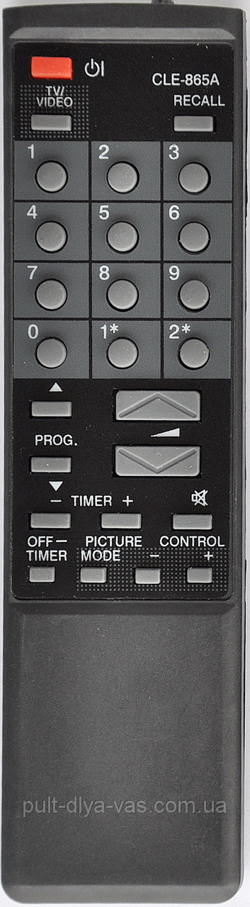 Пульт от телевизора HITACHI. Модель CLE-865A