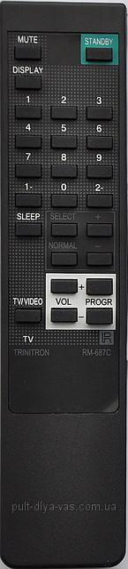 Пульт к  телевизору  SONY. Модель RM-687С