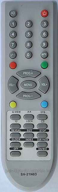 Пульт от телевизора SUPRA.  Модель SV-21N03