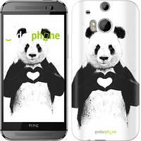 "Чехол на HTC One M8 dual sim All you need is love ""2732c-55"""