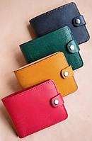 Маленькие кожаные женские кошельки ручной работы.Ассортимент. С узорами Орнамент Вышиванка, Завитки, Сердца, фото 1