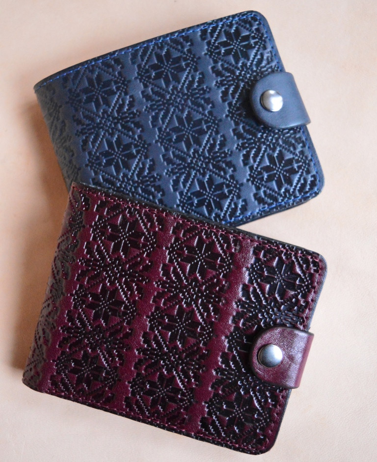 Полностью кожаный кошелек ручной работы.Ассортимент., фото 1